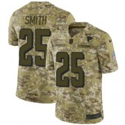 Wholesale Cheap Nike Falcons #25 Ito Smith Camo Men's Stitched NFL Limited 2018 Salute To Service Jersey