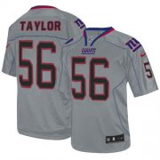 Wholesale Cheap Nike Giants #56 Lawrence Taylor Lights Out Grey Men's Stitched NFL Elite Jersey