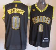 Wholesale Cheap Oklahoma City Thunder #0 Russell Westbrook Black Electricity Fashion Jersey