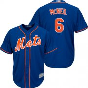 Wholesale Cheap Mets #6 Jeff McNeil Blue New Cool Base Stitched MLB Jersey