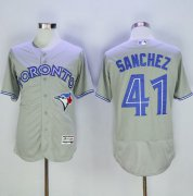 Wholesale Cheap Blue Jays #41 Aaron Sanchez Grey Flexbase Authentic Collection Stitched MLB Jersey