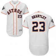 Wholesale Cheap Astros #23 Michael Brantley White Flexbase Authentic Collection 2019 World Series Bound Stitched MLB Jersey