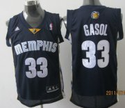 Wholesale Cheap Memphis Grizzlies #33 Marc Gasol Navy Blue Swingman Jersey