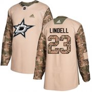 Cheap Adidas Stars #23 Esa Lindell Camo Authentic 2017 Veterans Day Youth Stitched NHL Jersey