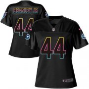 Wholesale Cheap Nike Titans #44 Vic Beasley Jr Black Women's NFL Fashion Game Jersey