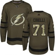 Cheap Adidas Lightning #71 Anthony Cirelli Green Salute to Service Youth Stitched NHL Jersey
