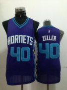 Wholesale Cheap Charlotte Hornets #40 Cody Zeller Purple Swingman Jersey