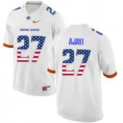 Wholesale Cheap Boise State Broncos 27 Jay Ajayi White USA Flag College Football Jersey