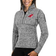 Wholesale Cheap New Jersey Devils Antigua Women's Fortune 1/2-Zip Pullover Sweater Black