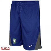 Wholesale Cheap Nike Brazil 2014 World Soccer Performance Shorts Blue