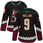 Wholesale Cheap Adidas Coyotes #9 Clayton Keller Black Alternate Authentic Women's Stitched NHL Jersey