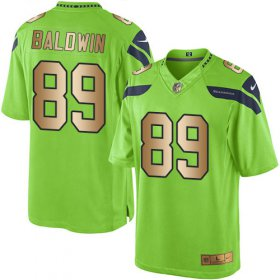 Wholesale Cheap Nike Seahawks #89 Doug Baldwin Green Men\'s Stitched NFL Limited Gold Rush Jersey