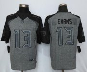 Wholesale Cheap Nike Buccaneers #13 Mike Evans Gray Men's Stitched NFL Limited Gridiron Gray Jersey