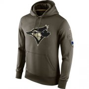 Wholesale Cheap Men's Toronto Blue Jays Nike Olive Salute To Service KO Performance Hoodie