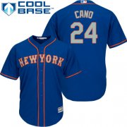 Wholesale Cheap Mets #24 Robinson Cano Blue(Grey NO.) Cool Base Stitched Youth MLB Jersey