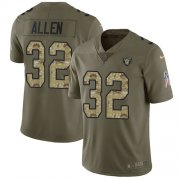 Wholesale Cheap Nike Raiders #32 Marcus Allen Olive/Camo Men's Stitched NFL Limited 2017 Salute To Service Jersey