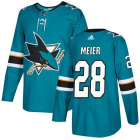 Wholesale Cheap Adidas Sharks #28 Timo Meier Teal Home Authentic Stitched Youth NHL Jersey