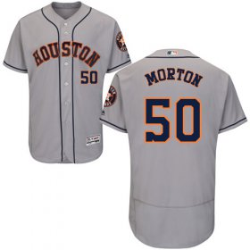 Wholesale Cheap Astros #50 Charlie Morton Grey Flexbase Authentic Collection Stitched MLB Jersey