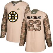 Wholesale Cheap Adidas Bruins #63 Brad Marchand Camo Authentic 2017 Veterans Day Stitched NHL Jersey