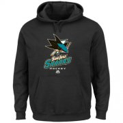 Wholesale Cheap San Jose Sharks Majestic Critical Victory VIII Pullover Hoodie Black