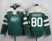 Wholesale Cheap Nike Jets #80 Wayne Chrebet Green Player Pullover NFL Hoodie