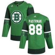Wholesale Cheap Boston Bruins #88 David Pastrnak Men's Adidas 2020 St. Patrick's Day Stitched NHL Jersey Green.jpg