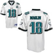 Wholesale Cheap Eagles Jeremy Maclin #18 White Stitched Team 50TH Anniversary Patch NFL Jersey