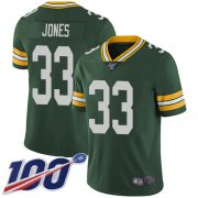 Wholesale Cheap Nike Packers #33 Aaron Jones Green Team Color Men's Stitched NFL 100th Season Vapor Limited Jersey