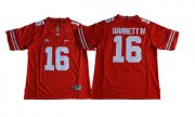 Wholesale Cheap Men's Ohio State Buckeyes #16 J.T. Barrett IV Red Limited Stitched NCAA 2016 Nike College Football Jersey