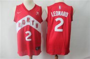 Wholesale Cheap Men's Toronto Raptors 2 Kawhi Leonard Nike Red 2018-19 Swingman Earned Edition Jersey