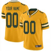 Wholesale Cheap Nike Green Bay Packers Customized Gold Men's Stitched NFL Limited Inverted Legend Jersey