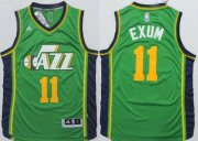 Wholesale Cheap Utah Jazz #11 Dante Exum Revolution 30 Swingman 2014 New Green Jersey