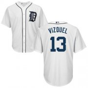 Wholesale Cheap Tigers #13 Omar Vizquel White Cool Base Stitched Youth MLB Jersey