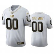 Wholesale Cheap Indianapolis Colts Custom Men's Nike White Golden Edition Vapor Limited NFL 100 Jersey