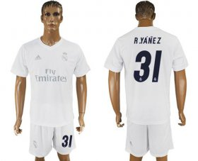Wholesale Cheap Real Madrid #31 R.Yanez Marine Environmental Protection Home Soccer Club Jersey