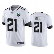 Wholesale Cheap Nike Jaguars #21 A.J. Bouye White 25th Anniversary Vapor Limited Stitched NFL 100th Season Jersey