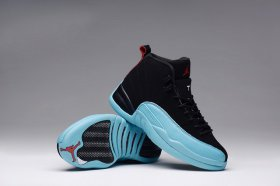 Wholesale Cheap Air Jordan 12 Retro GS Womens Shoes Gamma blue/black-red