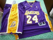 Wholesale Cheap Los Angeles Lakers 24 Kobe Bryant purple swingman Basketball Suit
