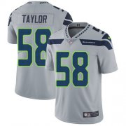 Wholesale Cheap Nike Seahawks #58 Darrell Taylor Grey Alternate Men's Stitched NFL Vapor Untouchable Limited Jersey