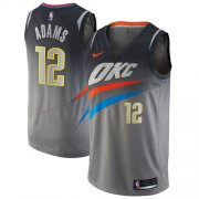Wholesale Cheap Nike Oklahoma City Thunder #12 Steven Adams Gray NBA Swingman City Edition Jersey