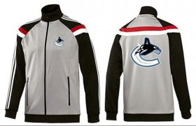 Wholesale Cheap NHL Vancouver Canucks Zip Jackets Grey