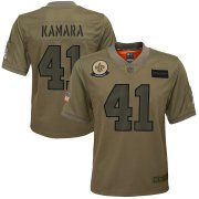Wholesale Cheap Youth New Orleans Saints #41 Alvin Kamara Nike Camo 2019 Salute to Service Game Jersey
