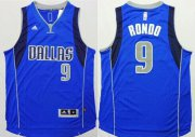 Wholesale Cheap Dallas Mavericks #9 Rajon Rondo Revolution 30 Swingman 2014 New Light Blue Jersey