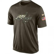Wholesale Cheap Men's Washington Capitals Salute To Service Nike Dri-FIT T-Shirt
