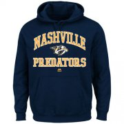 Wholesale Cheap Nashville Predators Majestic Heart & Soul Hoodie Navy Blue