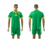 Wholesale Cheap South African Blank Green Away Soccer Country Jersey