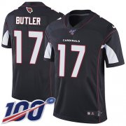 Wholesale Cheap Nike Cardinals #17 Hakeem Butler Black Alternate Men's Stitched NFL 100th Season Vapor Limited Jersey
