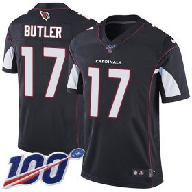 Wholesale Cheap Nike Cardinals #17 Hakeem Butler Black Alternate Men\'s Stitched NFL 100th Season Vapor Limited Jersey