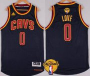 Wholesale Cheap Men's Cleveland Cavaliers #0 Kevin Love 2015 The Finals New Navy Blue Jersey
