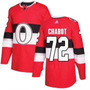 Wholesale Cheap Adidas Senators #72 Thomas Chabot Red Authentic 2017 100 Classic Stitched Youth NHL Jersey